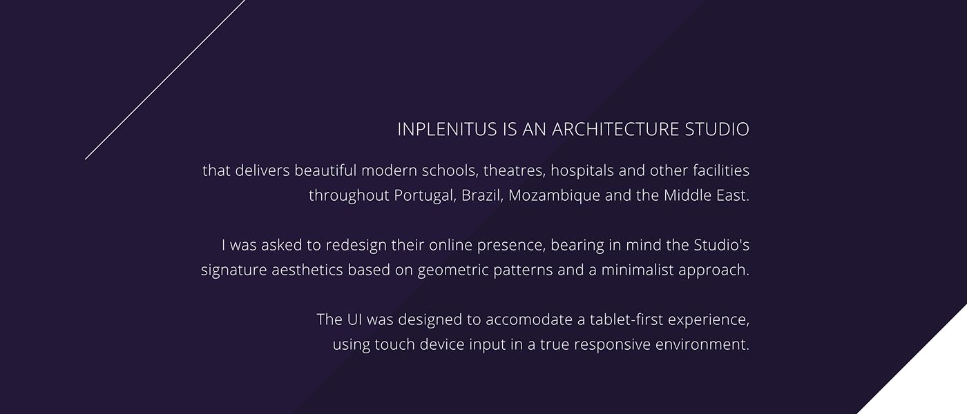 Website ux UI architecture tablet geometric minimalist