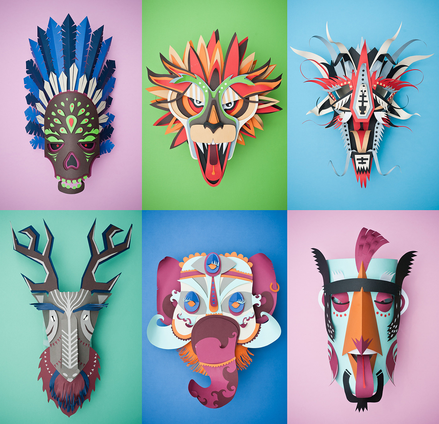 mask creative color colors masks Carnaval fiesta graphic design caracter