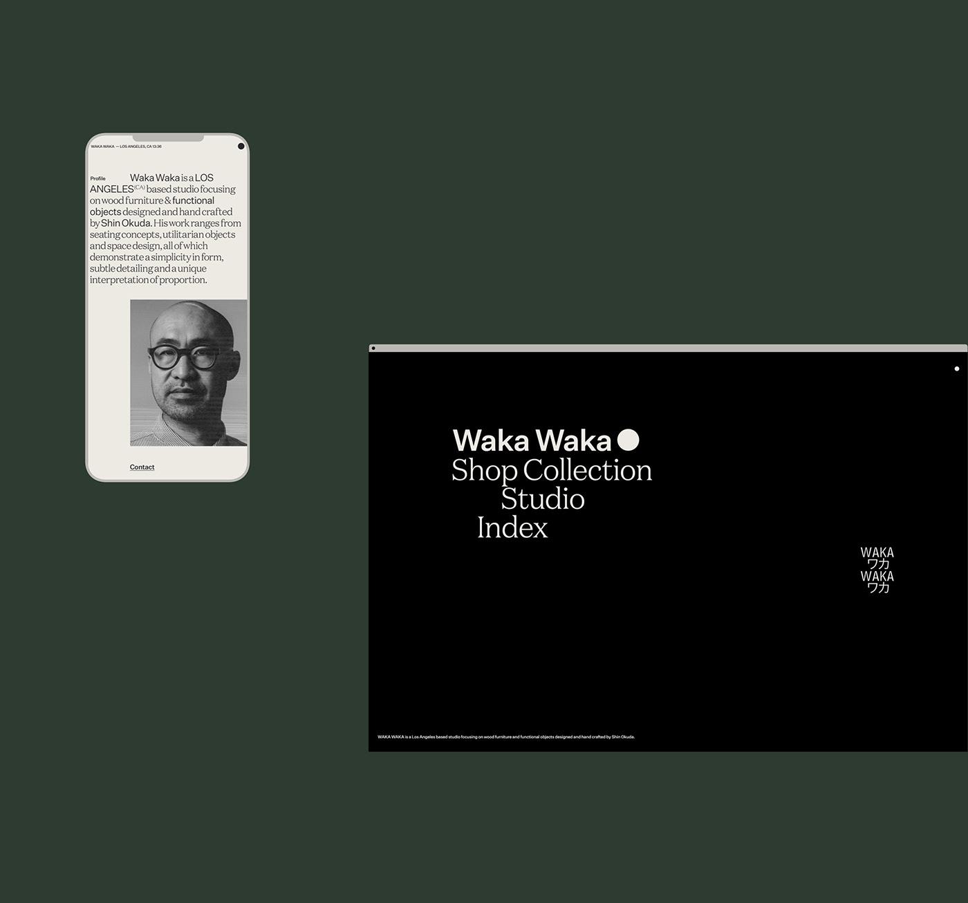animation  branding  chair furniture modern product Waka Waka Website Ecommerce shop