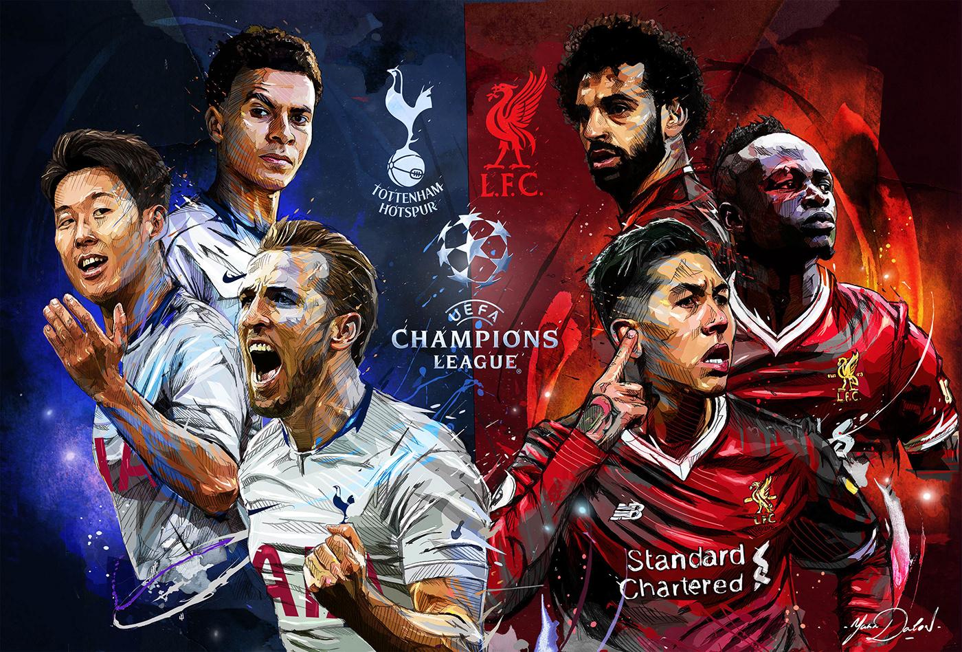 FINAL CHAMPIONS LEAGUE 2019 Liverpool vs Tottenham on Behance