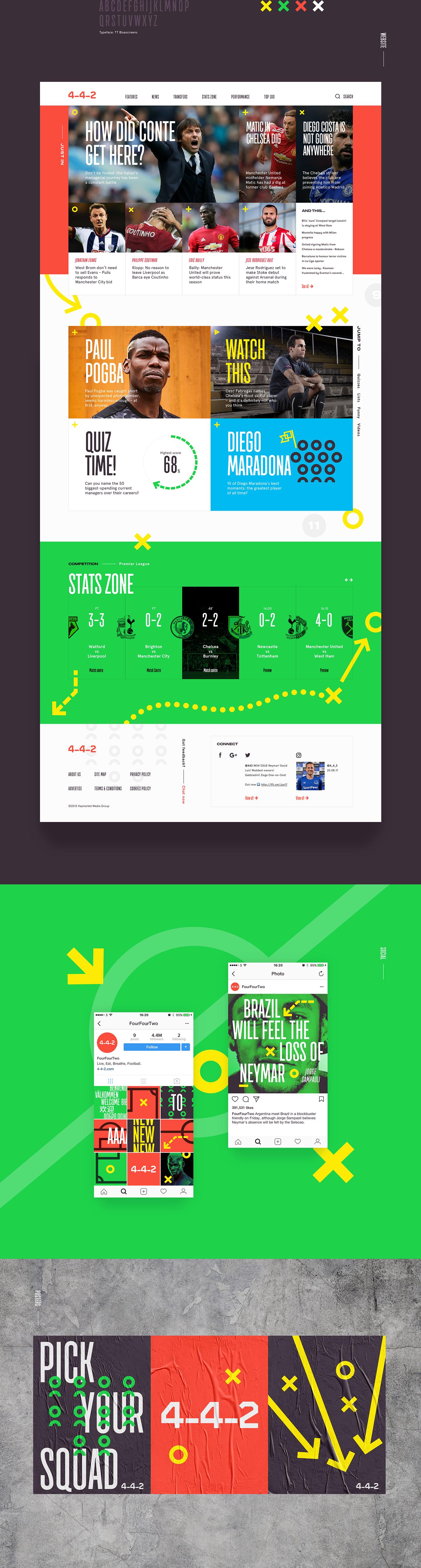 visual identity branding  Web instagram football sport magazine poster logo