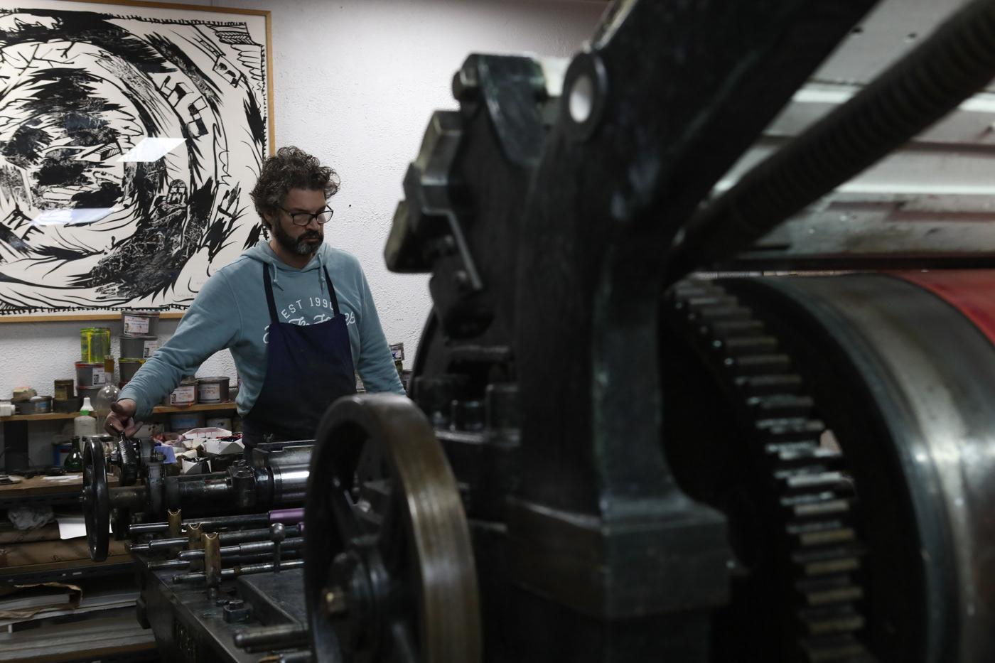 typographer portrait artisan Work  Paris Printing art Photography