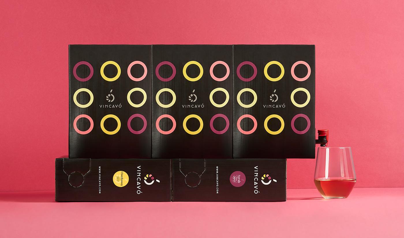 wine Packaging bag in box brand identity graphic design  naming wine label Logo Design corporate branding
