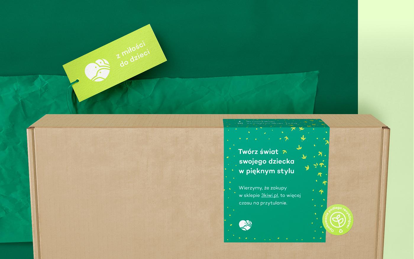 logo branding  baby Web Design  e-commerce kids identity shop Packaging