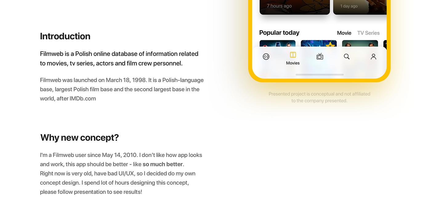 app ux UI interaction animation  Netflix Movies Cinema imdb tv series