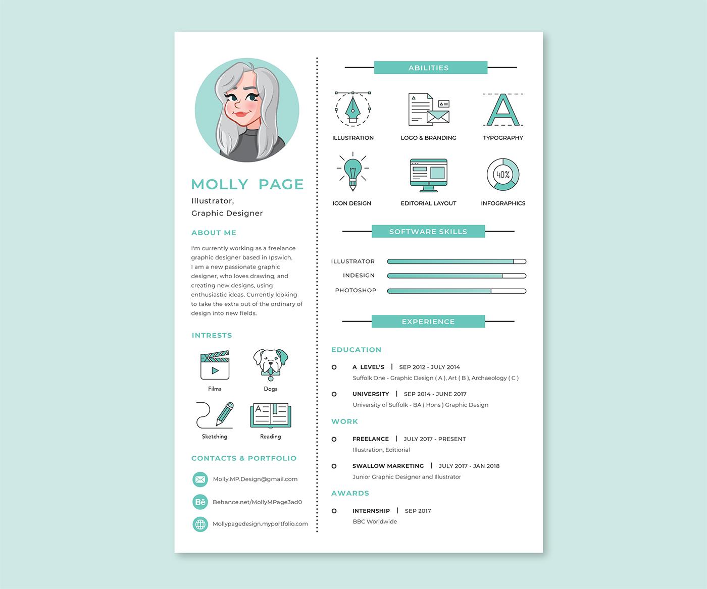 Resume cv Personal Branding