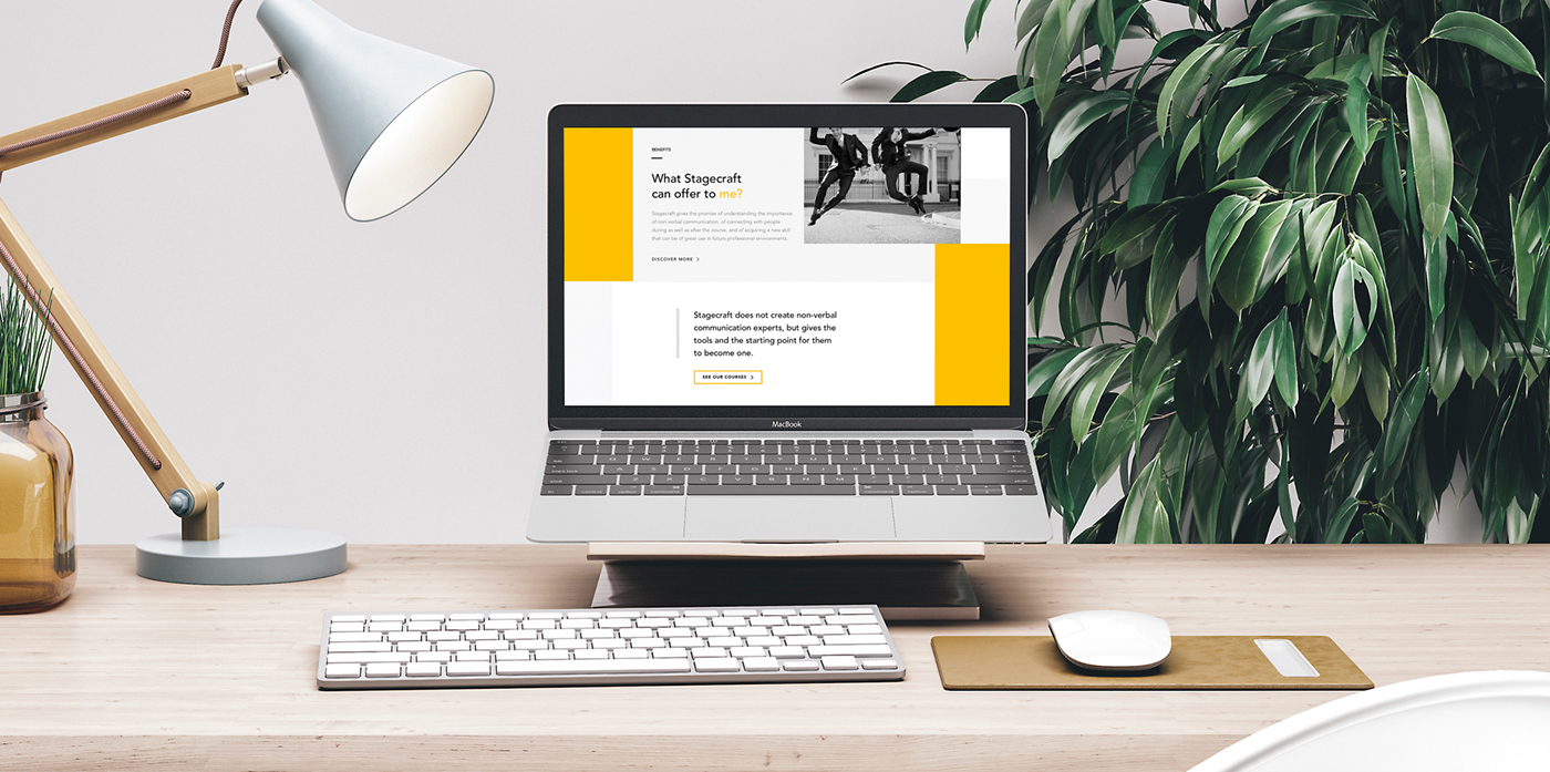 Handwritten Logo yellow Online course Nonverbal Communication Interface ui design Collection