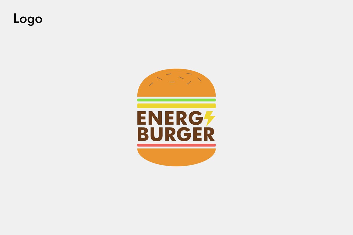 branding  brandingburger brandingdesign burger concept conceptbranding energy logo logofolio logos