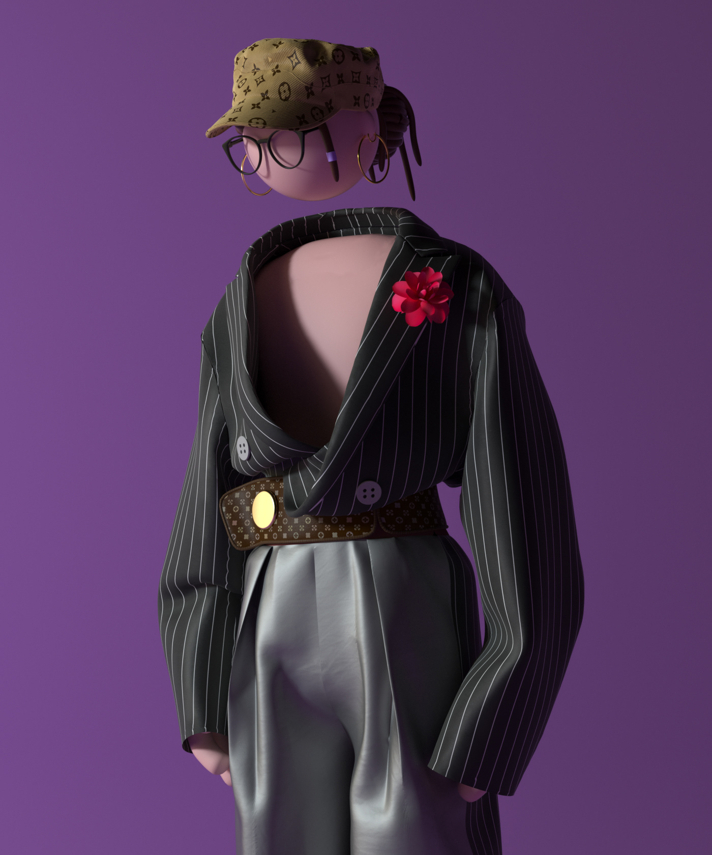 c4d clothing design IP MD model the lens