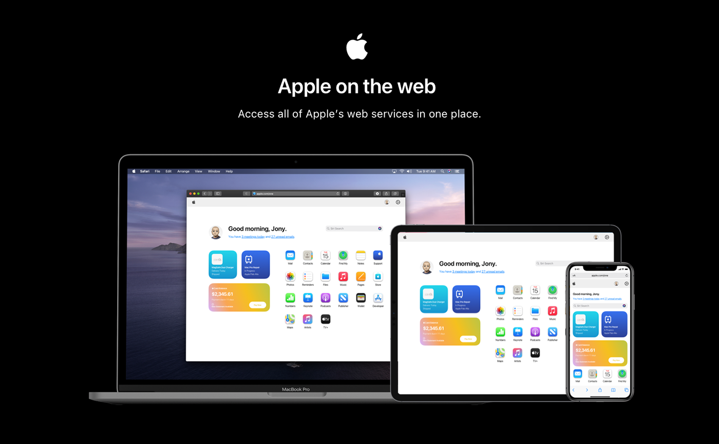 apple icloud Web