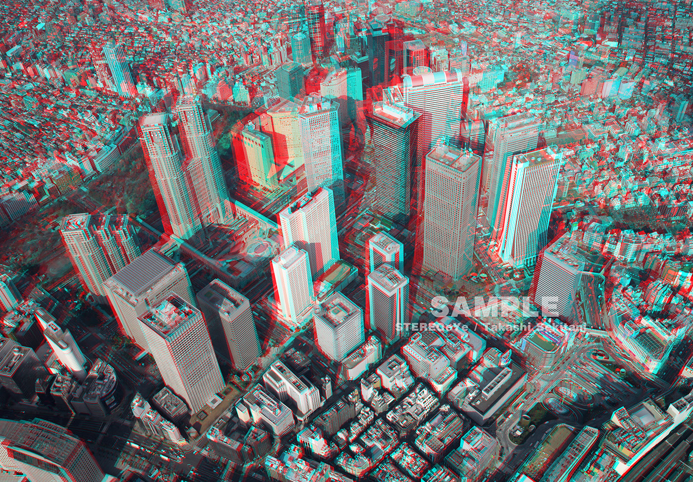 39 3d Tokyo 39 Aerial Stereo 3d Photo In Anaglyph On Behance