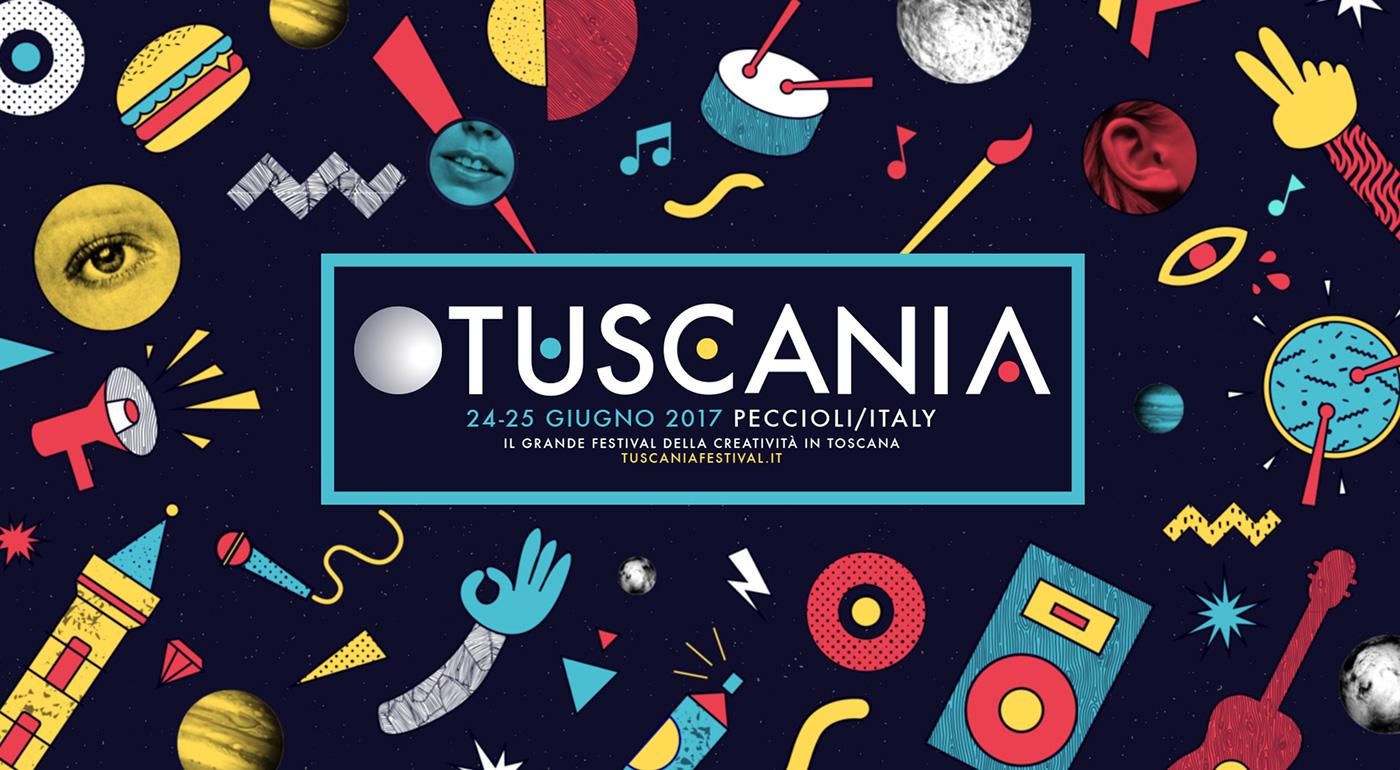 graphic design  Tuscany Tuscania ILLUSTRATION  car custom