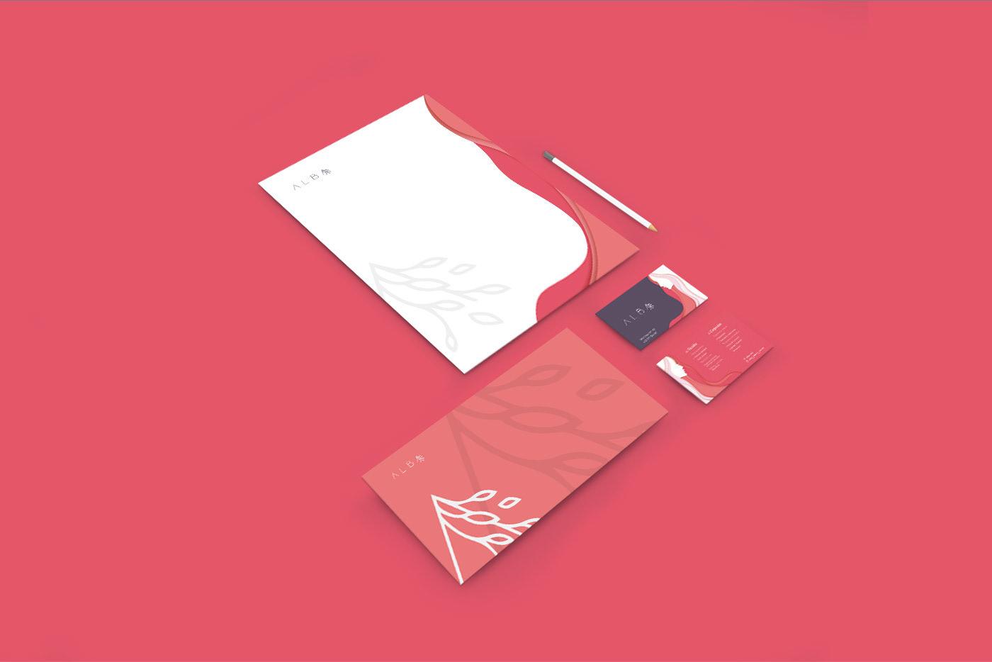 brand identity for alba made by tony hall