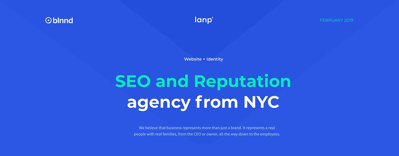 SEO UI ux reputation Web analytics Lanp corporate designer New York