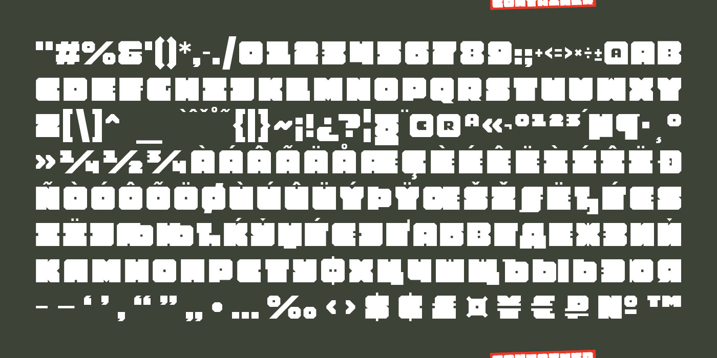 Typeface type typography   construction Heavy brick metal font muscle wide
