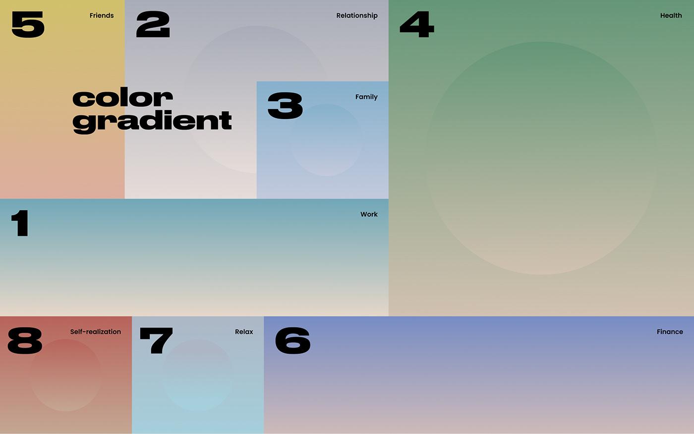 balance psychology Website circle light pure color Responsive