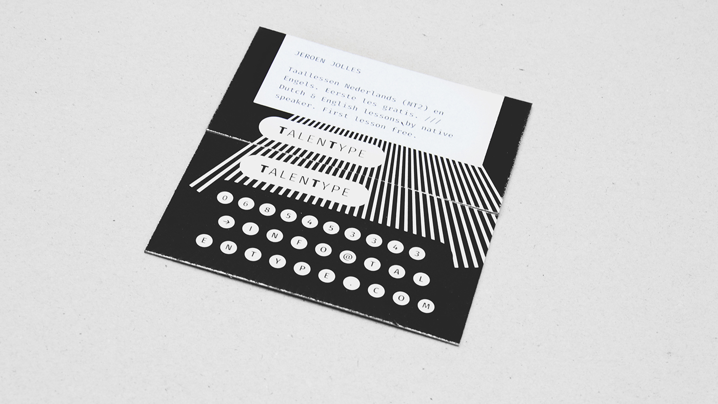 Business card on behance i used the visuals of the typewriters for inspiration the two sides of the business cards under each other give one image of a deconstructed typewriter reheart Gallery