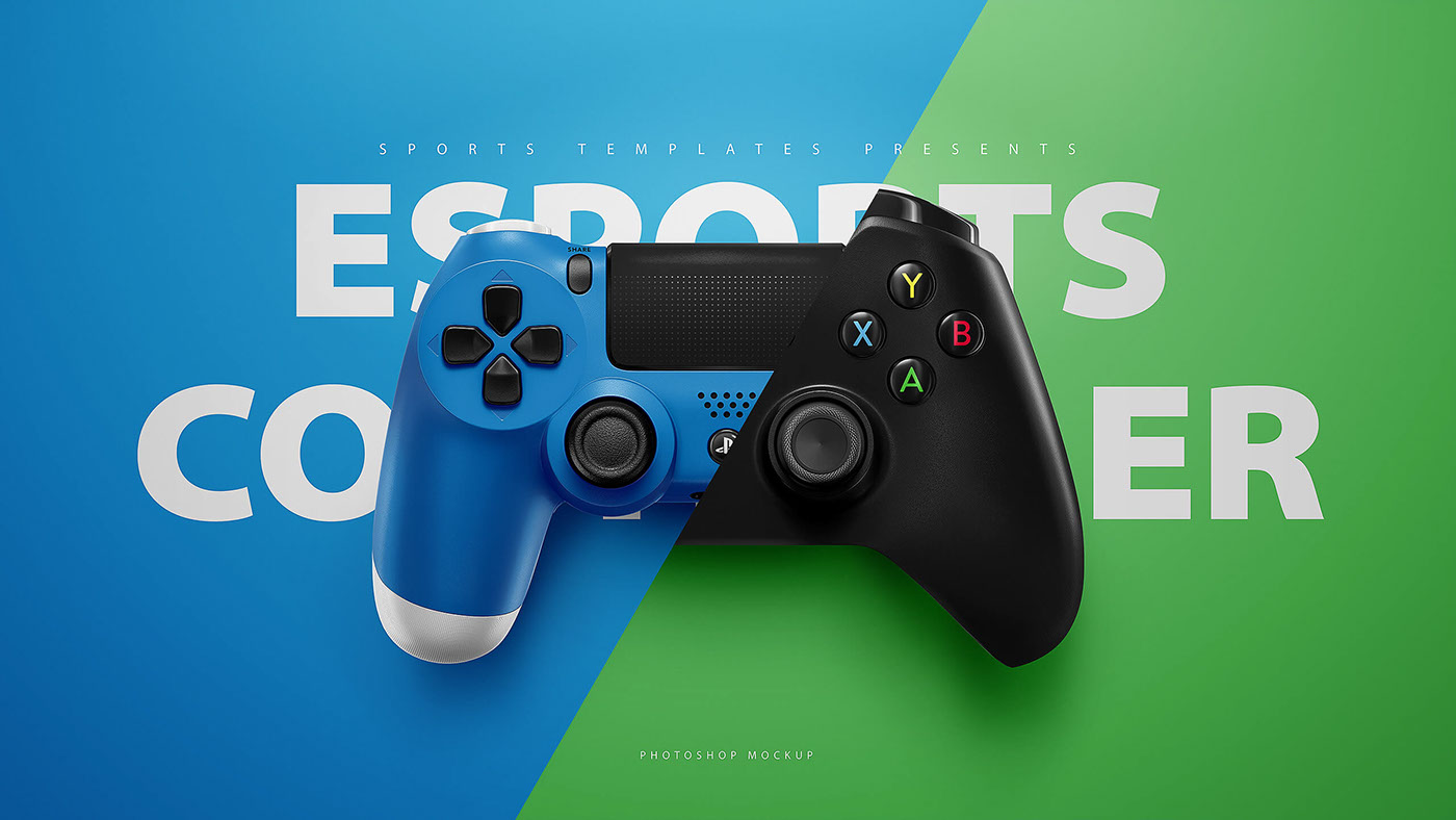 playstation 4 xbox one controller psd mockup template on behance