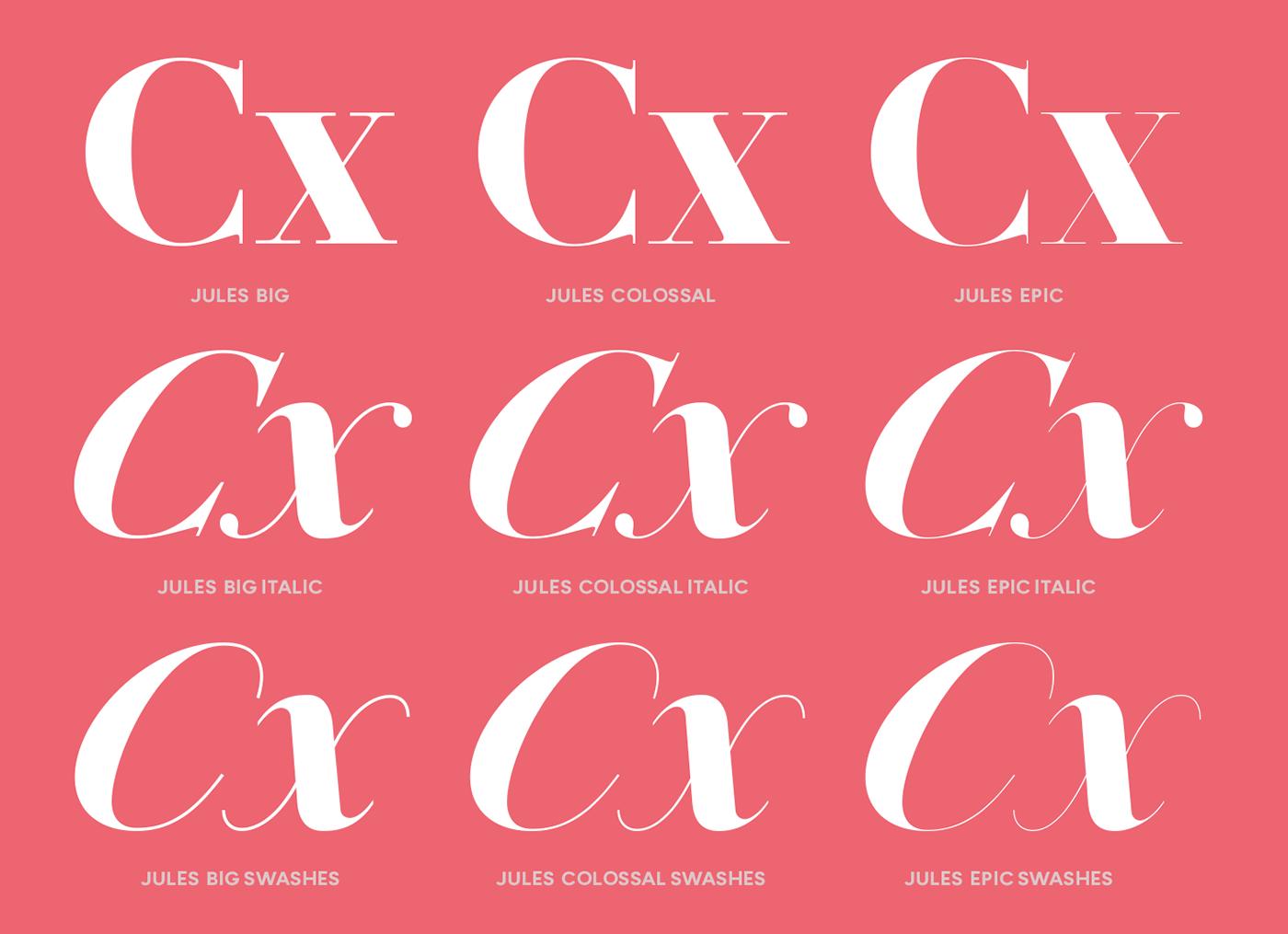 DSType poster Typeface font serif