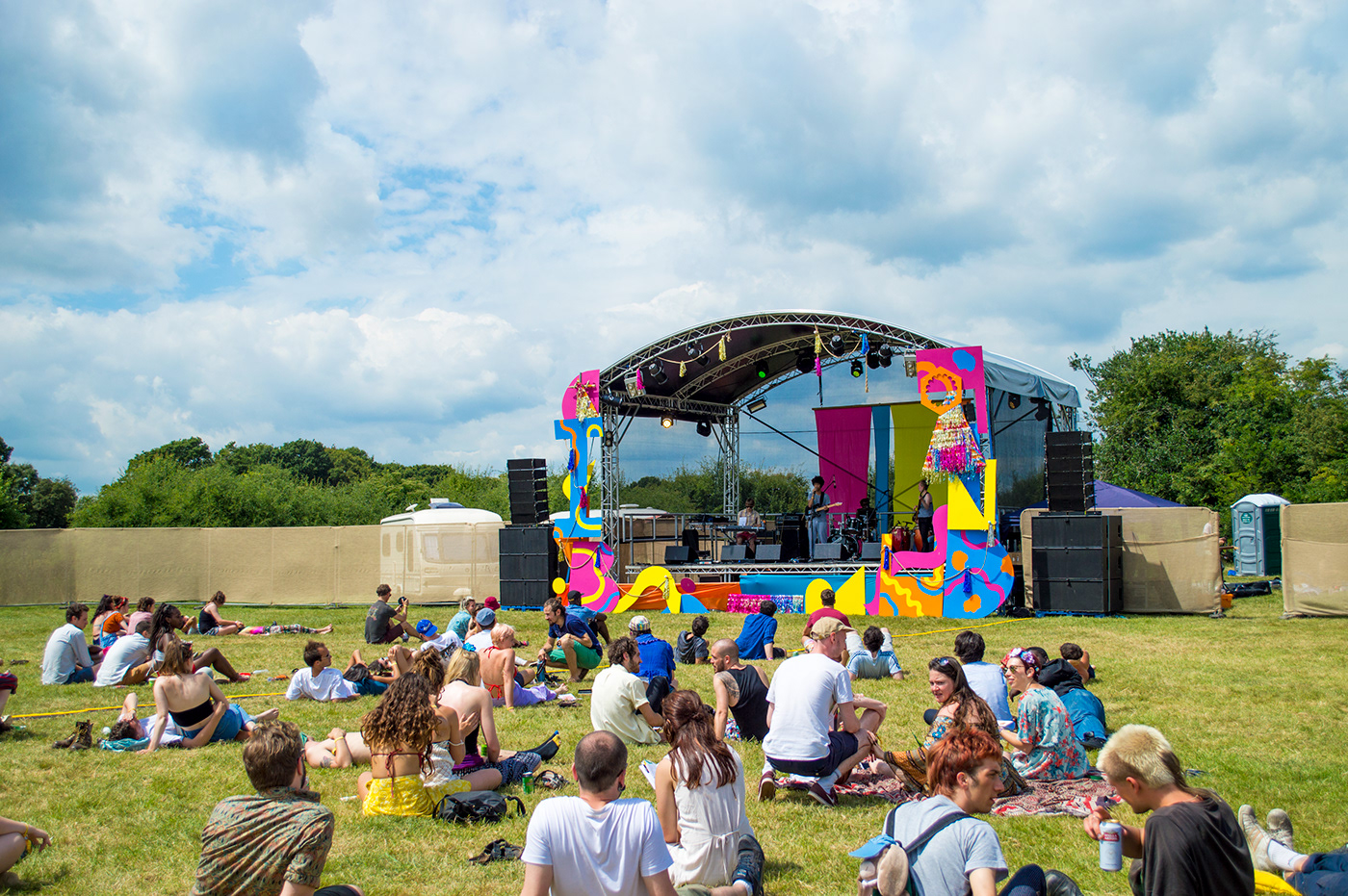 set design  festival festival design colour shapes mainstage brainchild brainchild festival STAGE DESIGN