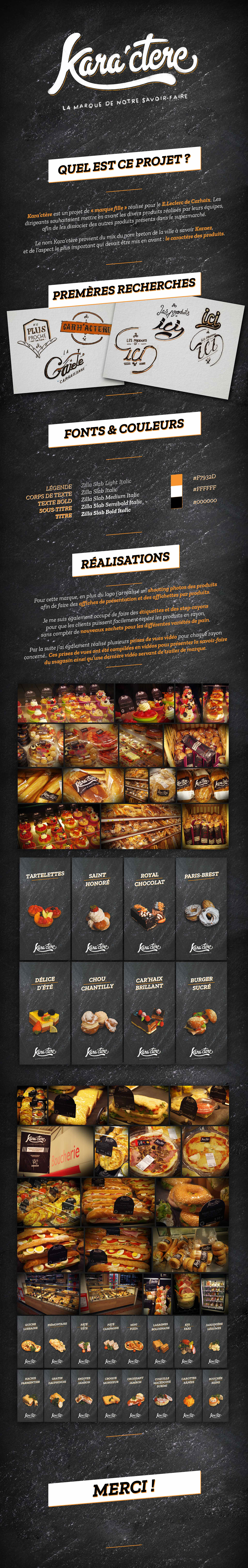 E.leclerc,brand,content,design,lettering,kara'ctère,valentin,poinot,cooking