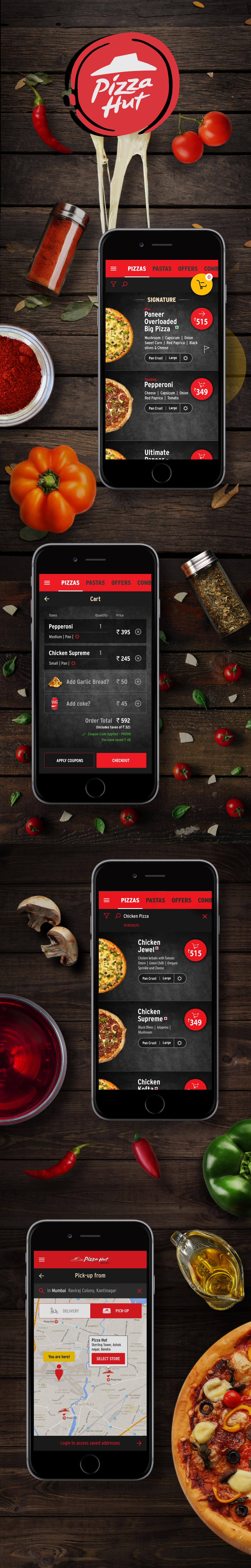 pizzahut uiux Mobile UI Product Mobile Design
