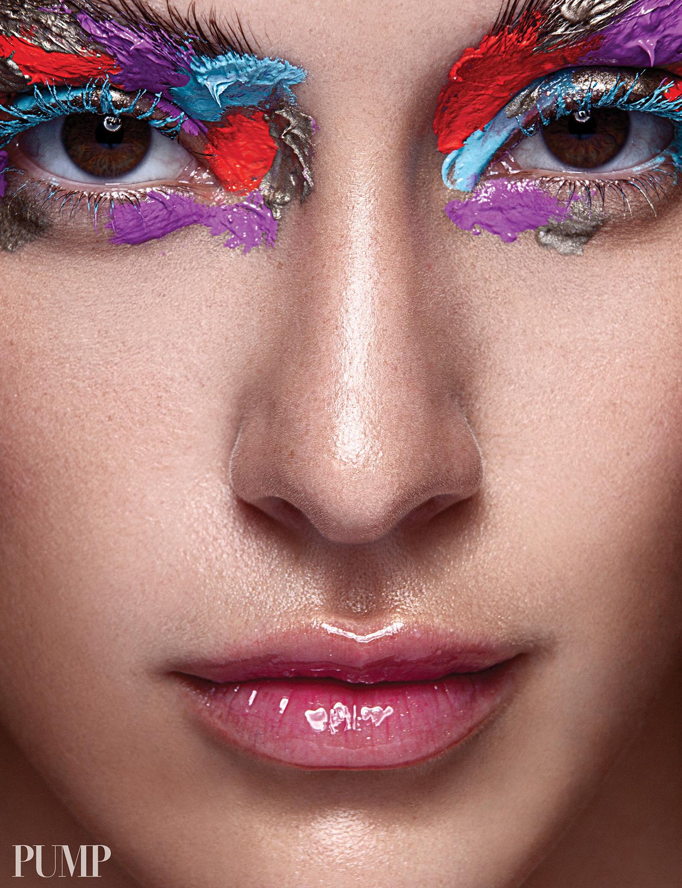 beauty editorial Fashion  Make Up MAKE UP ARTIST maquillaje moda photoshop Post Production retouch