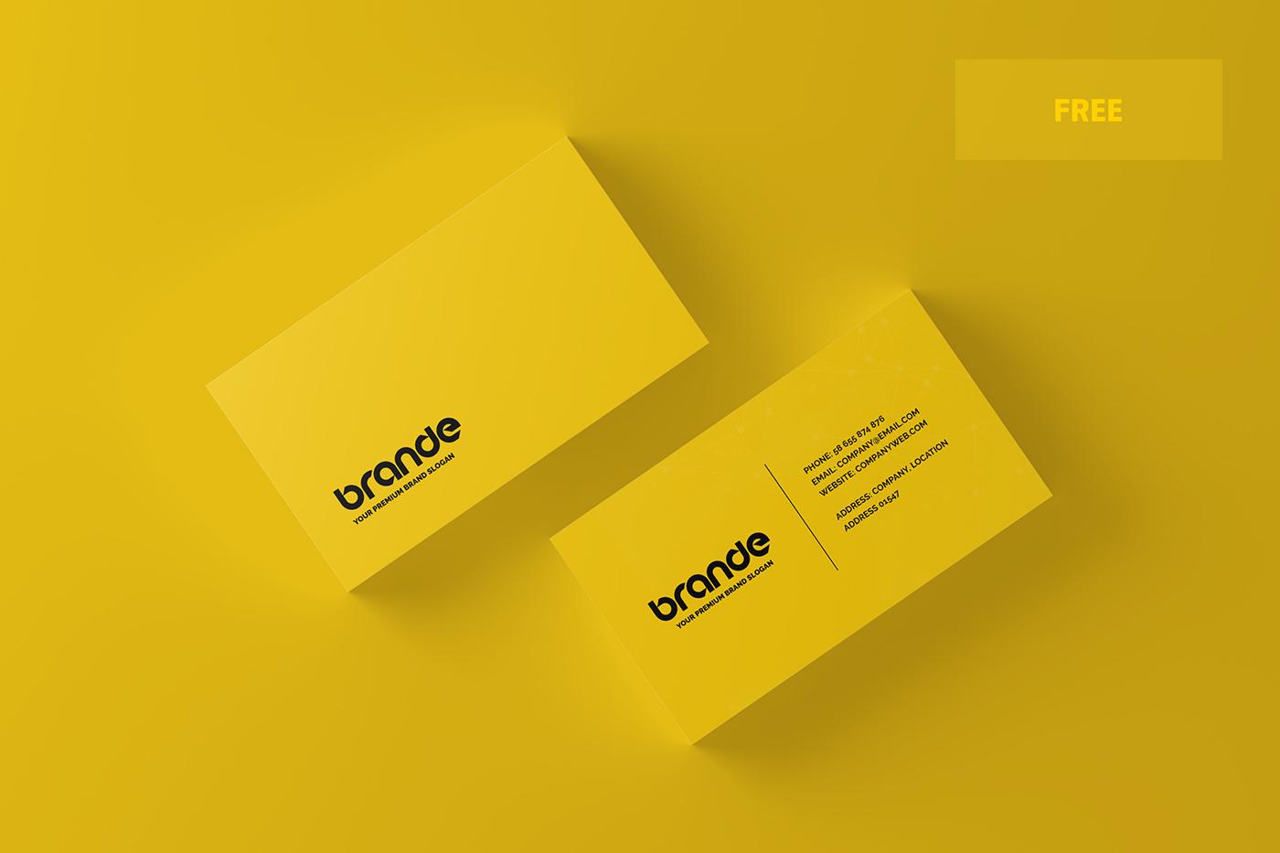 free freebie business card Mockup mockups mock-up mock-ups presentation 3D