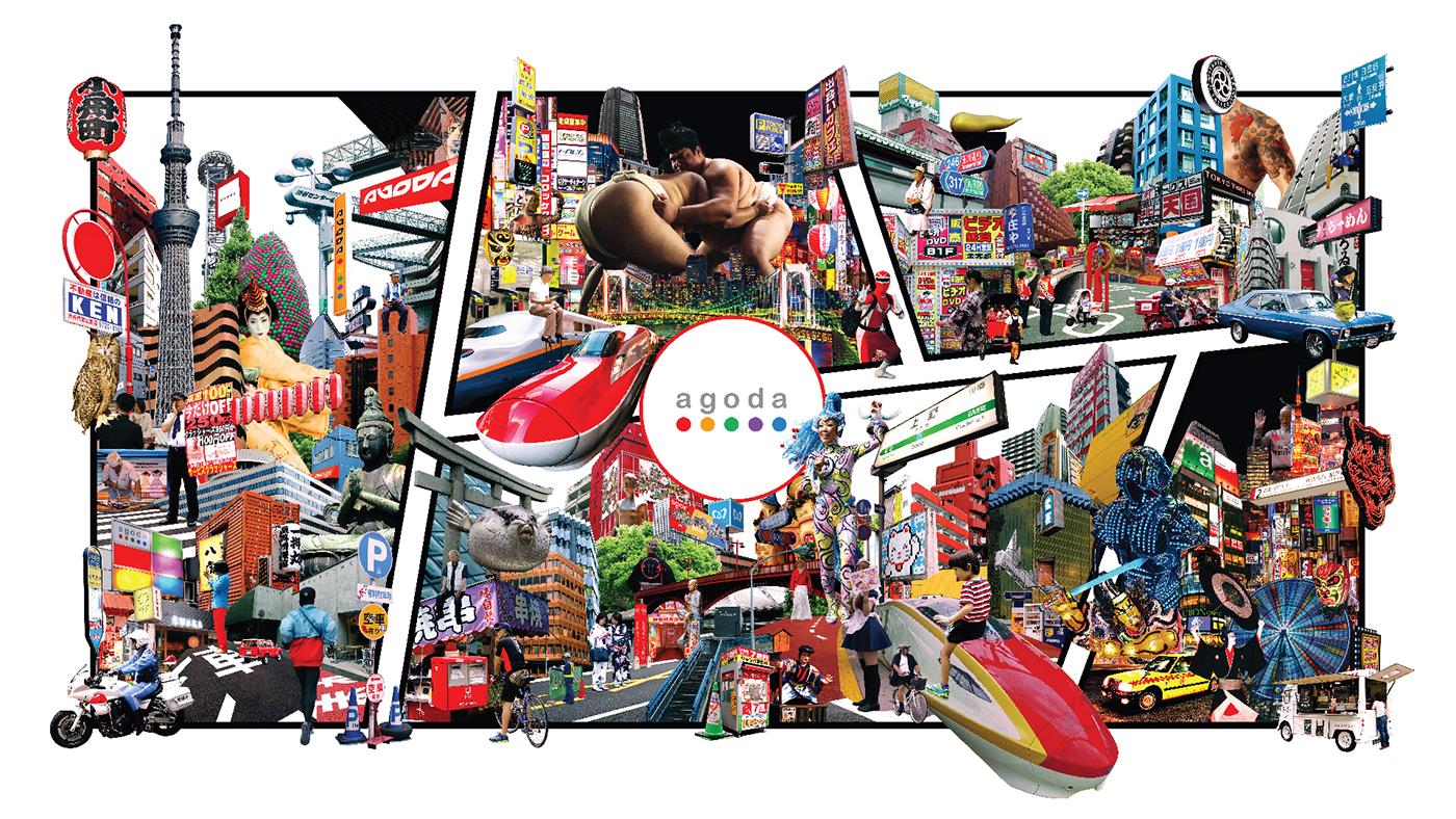 Travel instagram social media tokyo japan yogyakarta bali bandung collage agoda