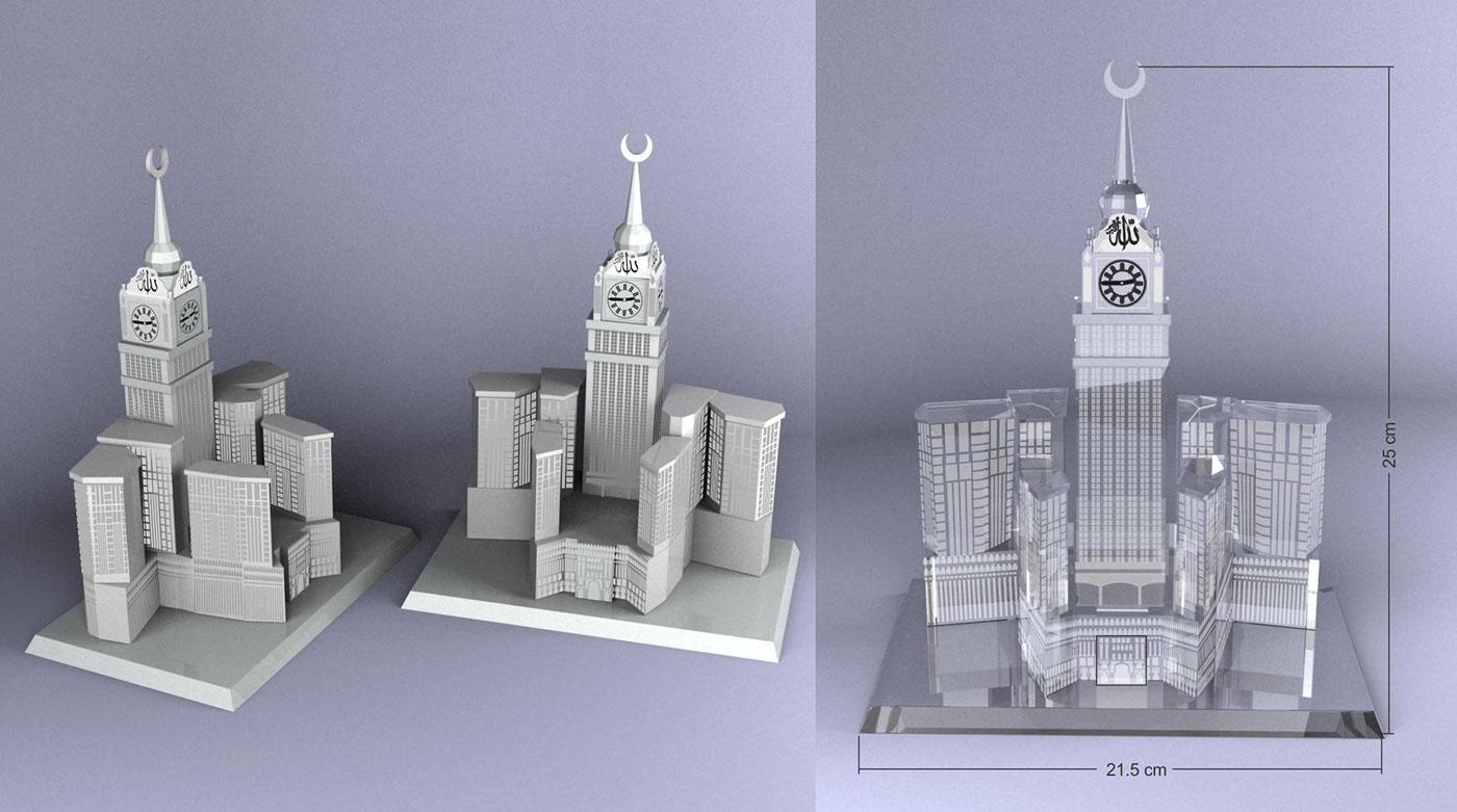 Abraj Al Bait Towers Mecca Crystal Model on Behance