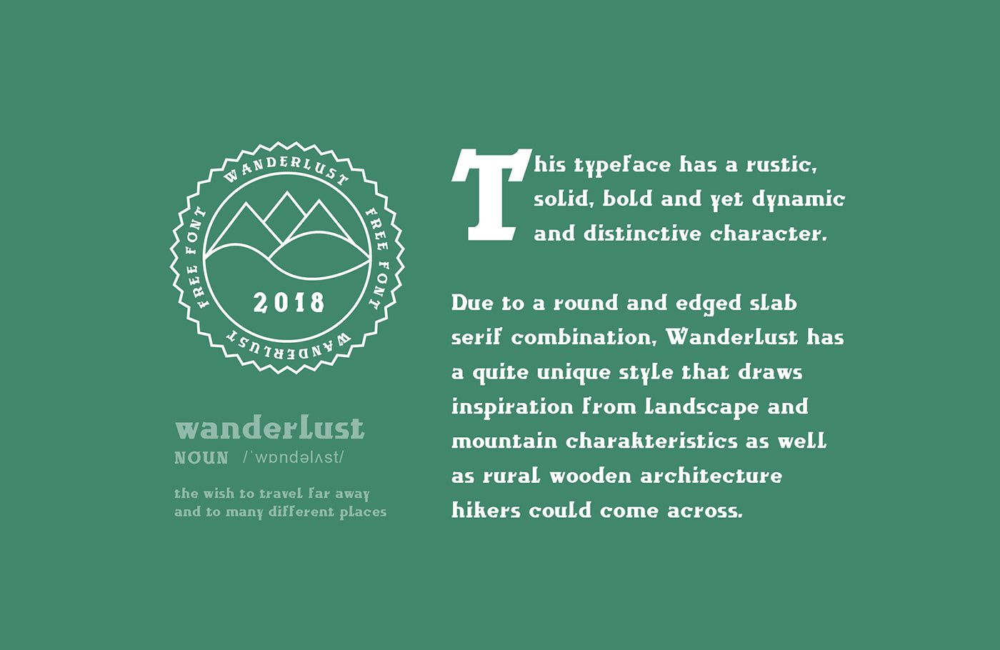 font,Typeface,serif,free,download,modern,wanderlust,hiking,Nature,cool