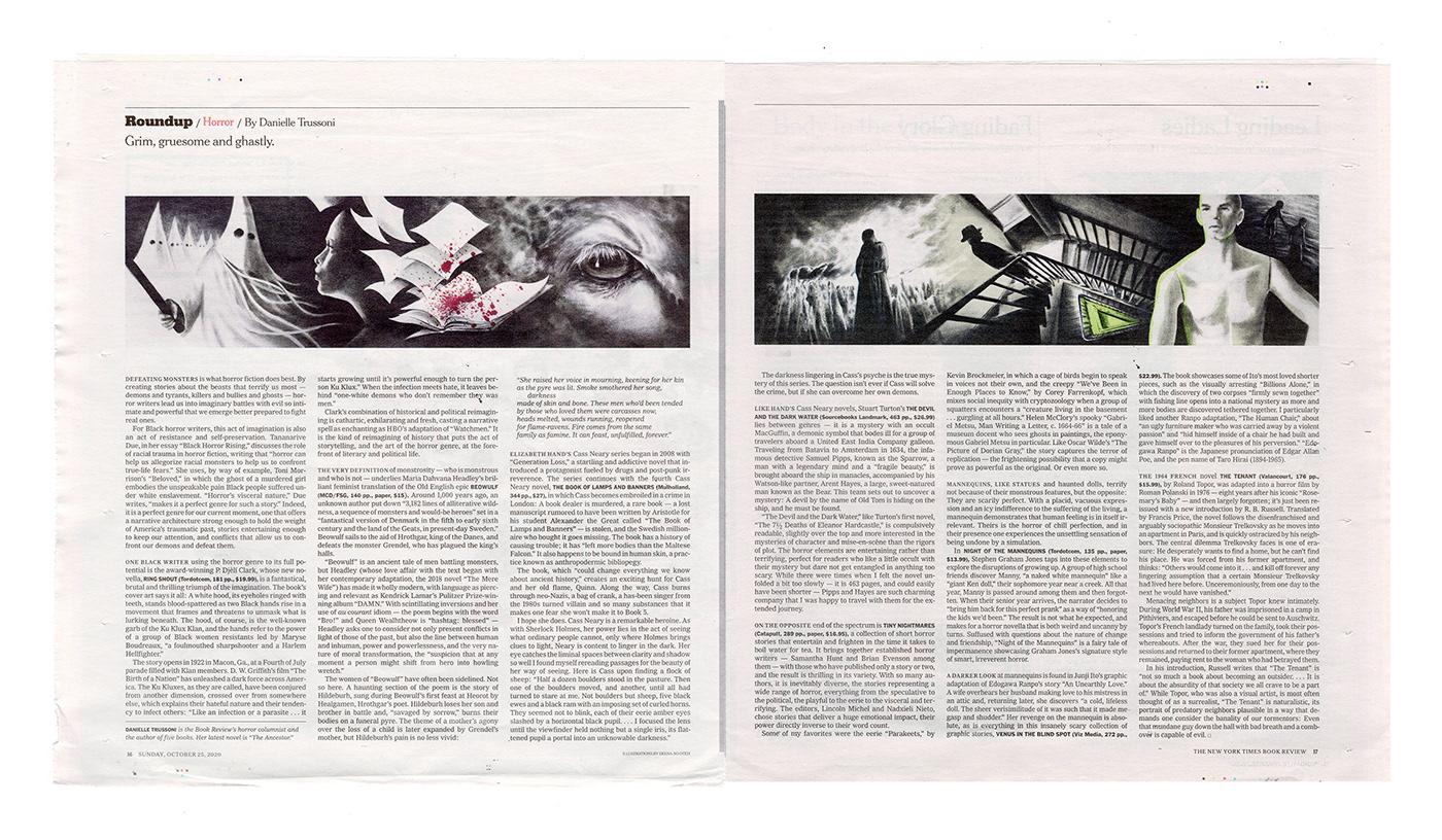 book illustration dramatic illustration Editorial Illustration horror illustrated ILLUSTRATION  nyt