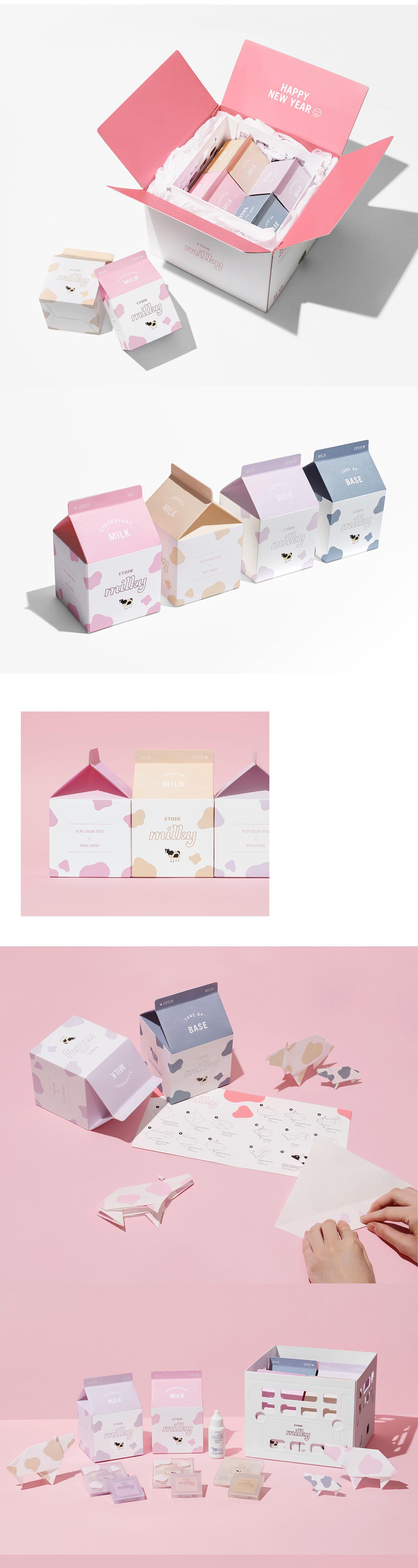 BEAUTY PACKAGE branding  influence kit package design  press kit design