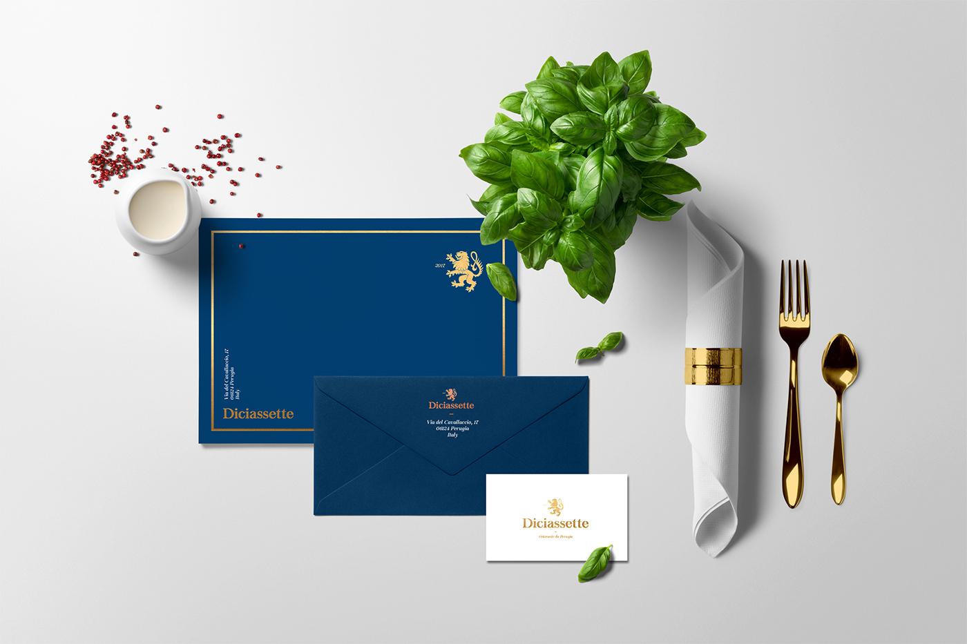restaurant branding  italian Food  ristorante gold species Pasta Pizza design