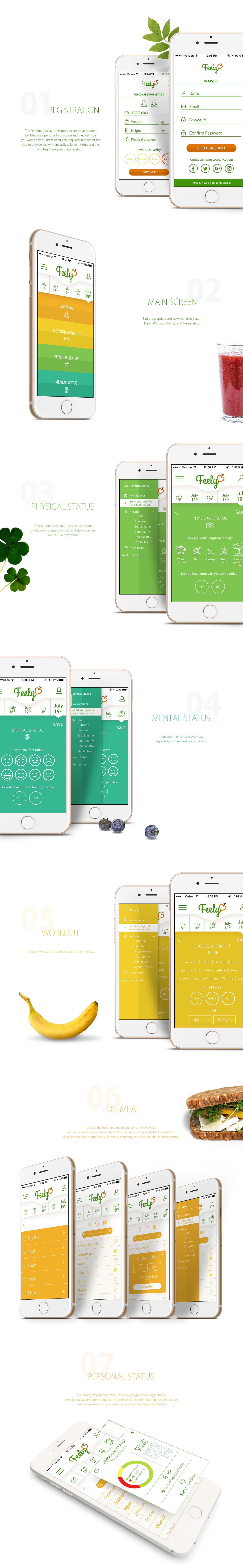 Health app Diary UI ux Food  uxdesign uidesign UI\UX wireframe