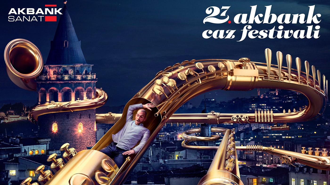 jazz caz Akbank music festival istanbul galata şehrin caz hali Taksim brass Adobe Portfolio