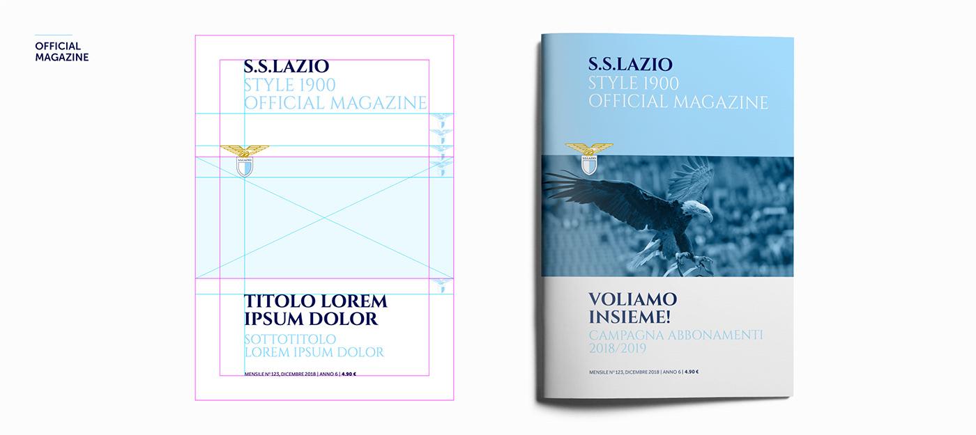 brand identity logo calcio Lazio SS Lazio soccer eagle aquila Serie A