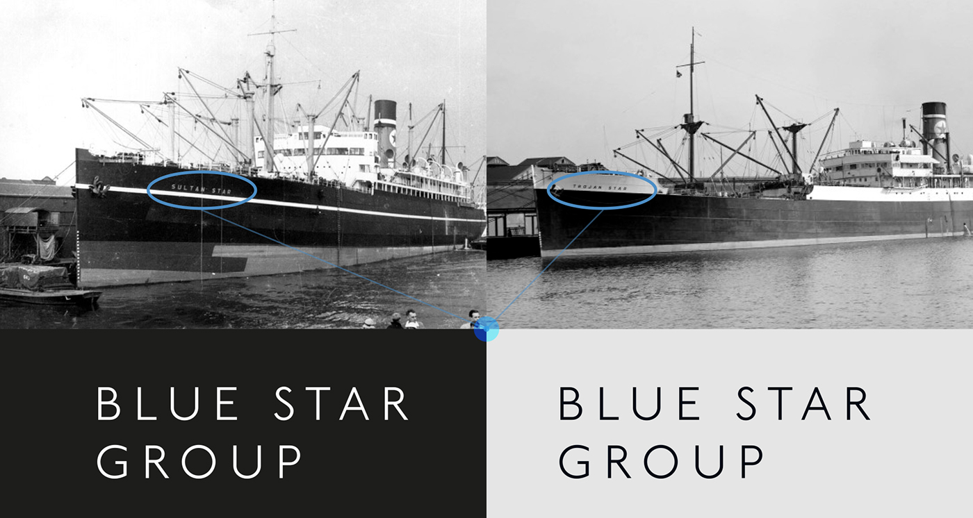 Corporate Design room meets freiland hamburg oslo vienna old brand Blue Star Line Webdesign blue sun Asset Management