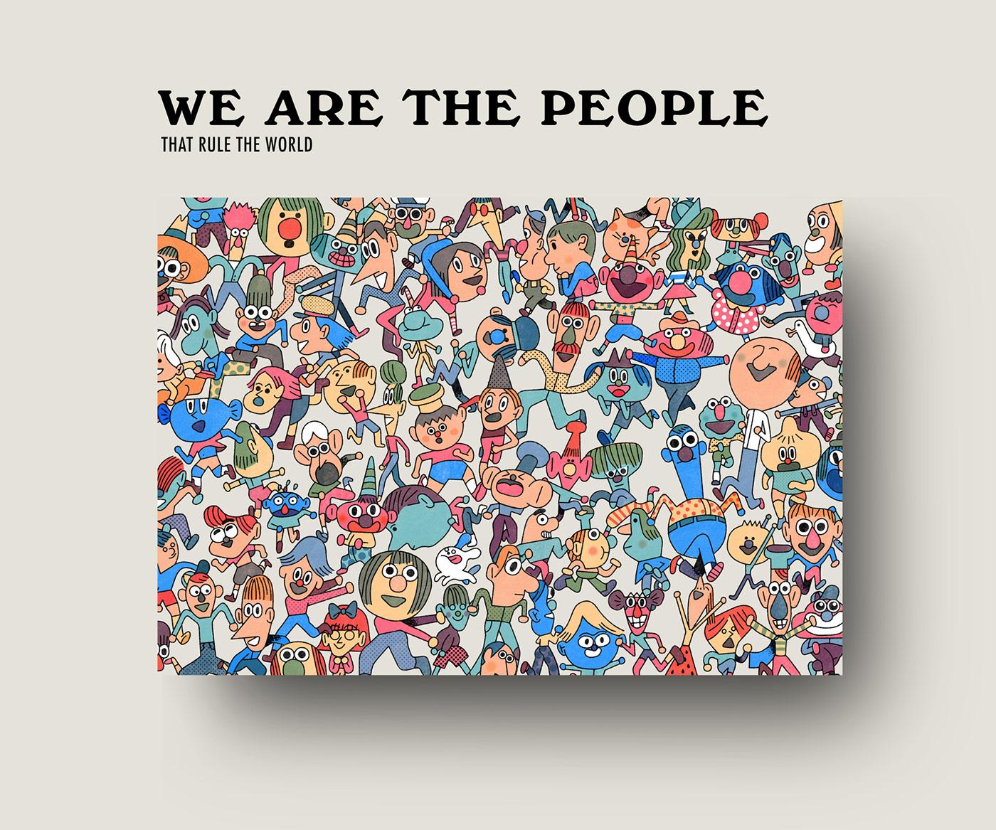 有設計感的56款人物插畫欣賞