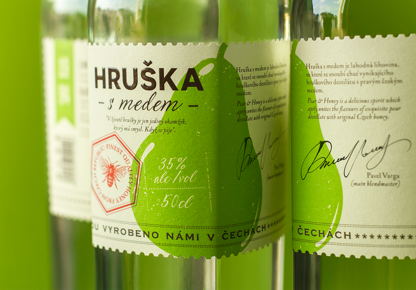 Label design package ILLUSTRATION  bottle alcohol amoth typography   czech traditions amothstudio