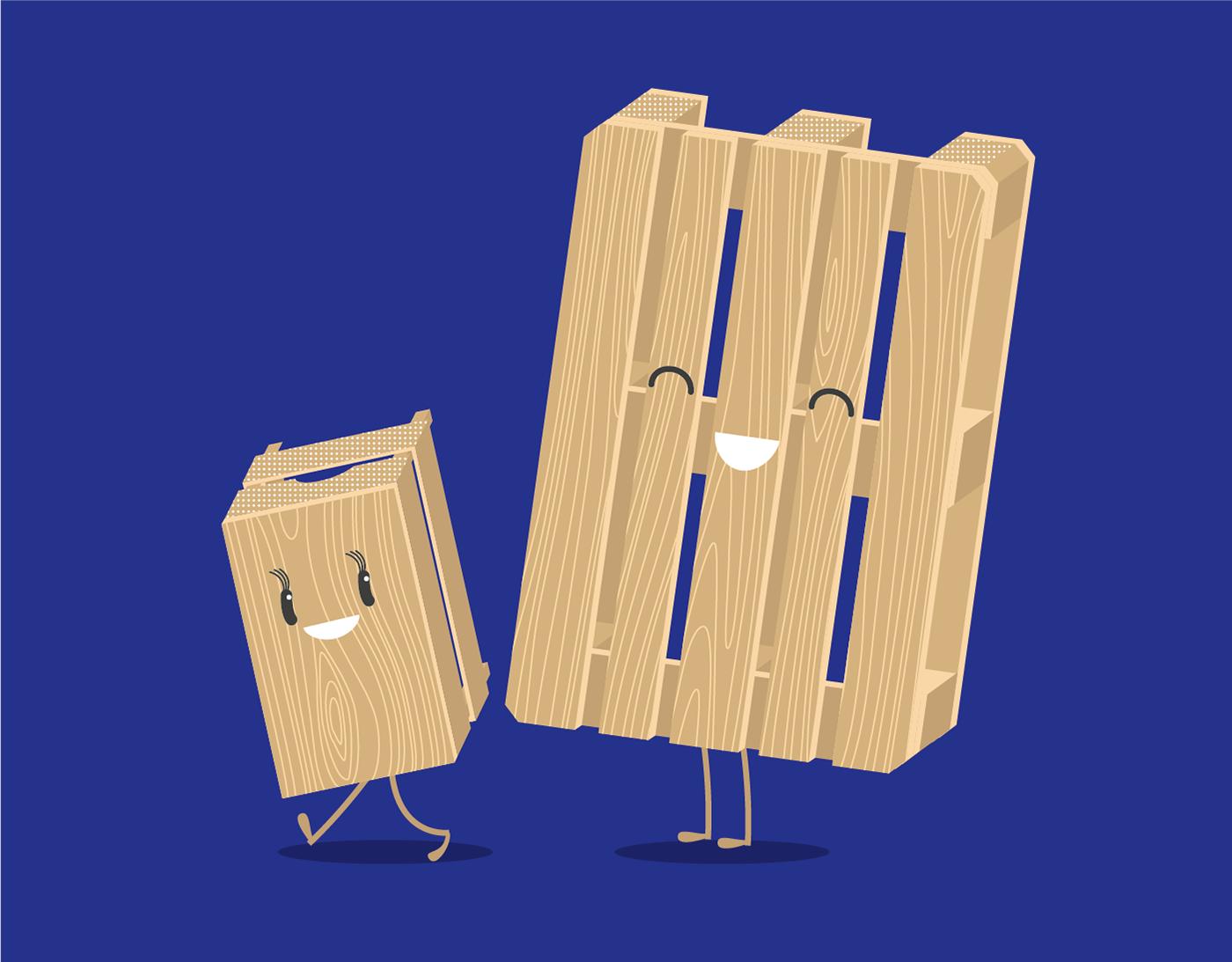 Character design  flat Illustrator Vectorial vettoriale