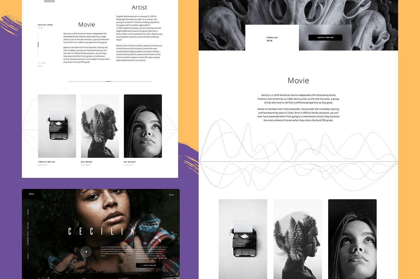 Adobe XD ux mobile Web app Prototyping Movies films studios