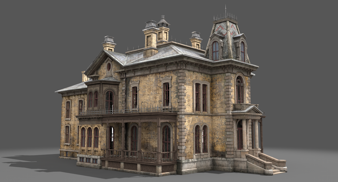 Abandoned victorian house on behance for Building a victorian house