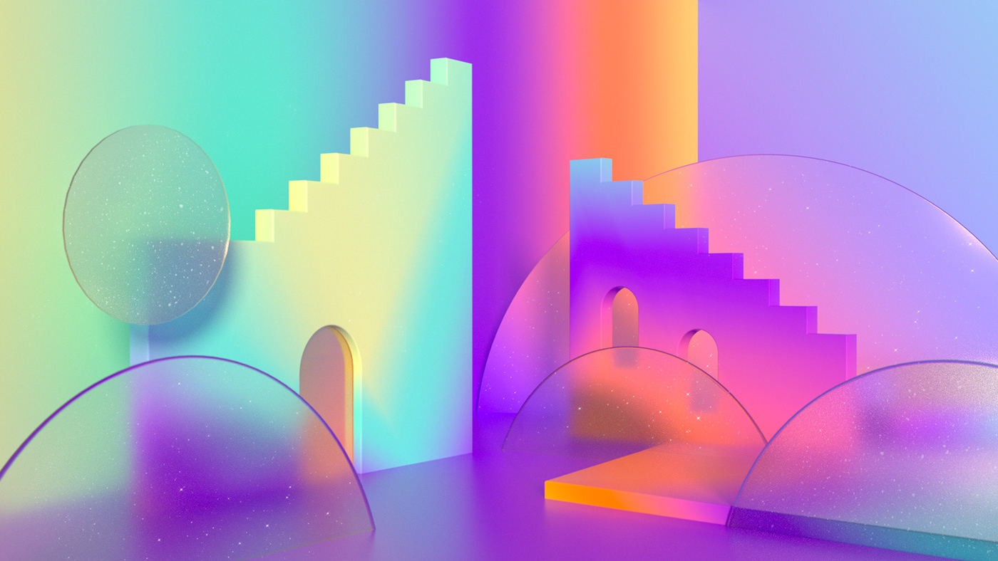 odyssey Magic   newwave Space  stairs mirrow rainbow Retro Aladin
