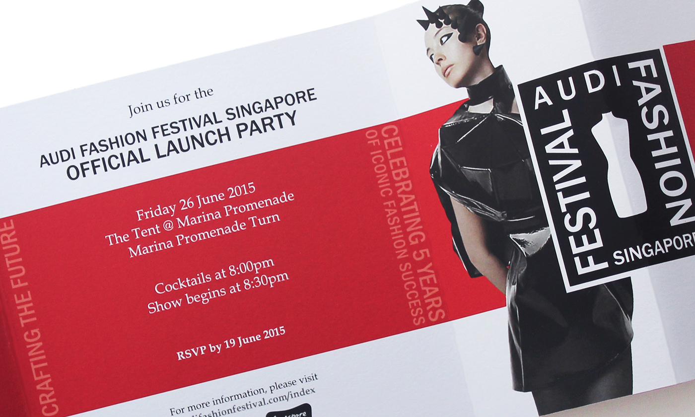 Audi Fashion Festival Singapore - Invitation Design on Behance