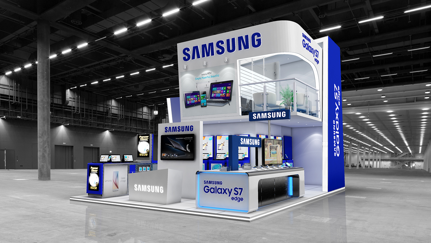 Exhibition Stand Design Illustrator : Samsung exhibition stand design on behance