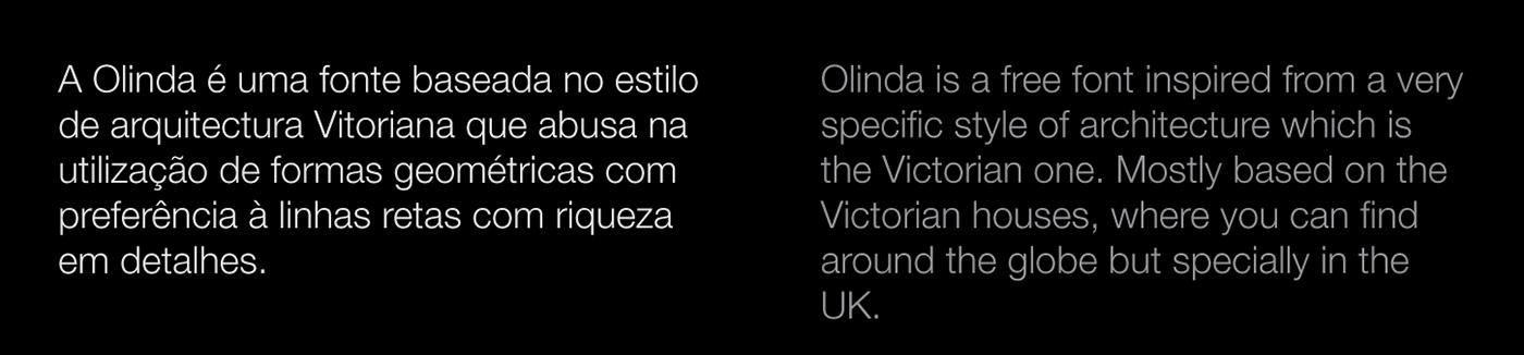 font olinda Luís Paulo Victorian