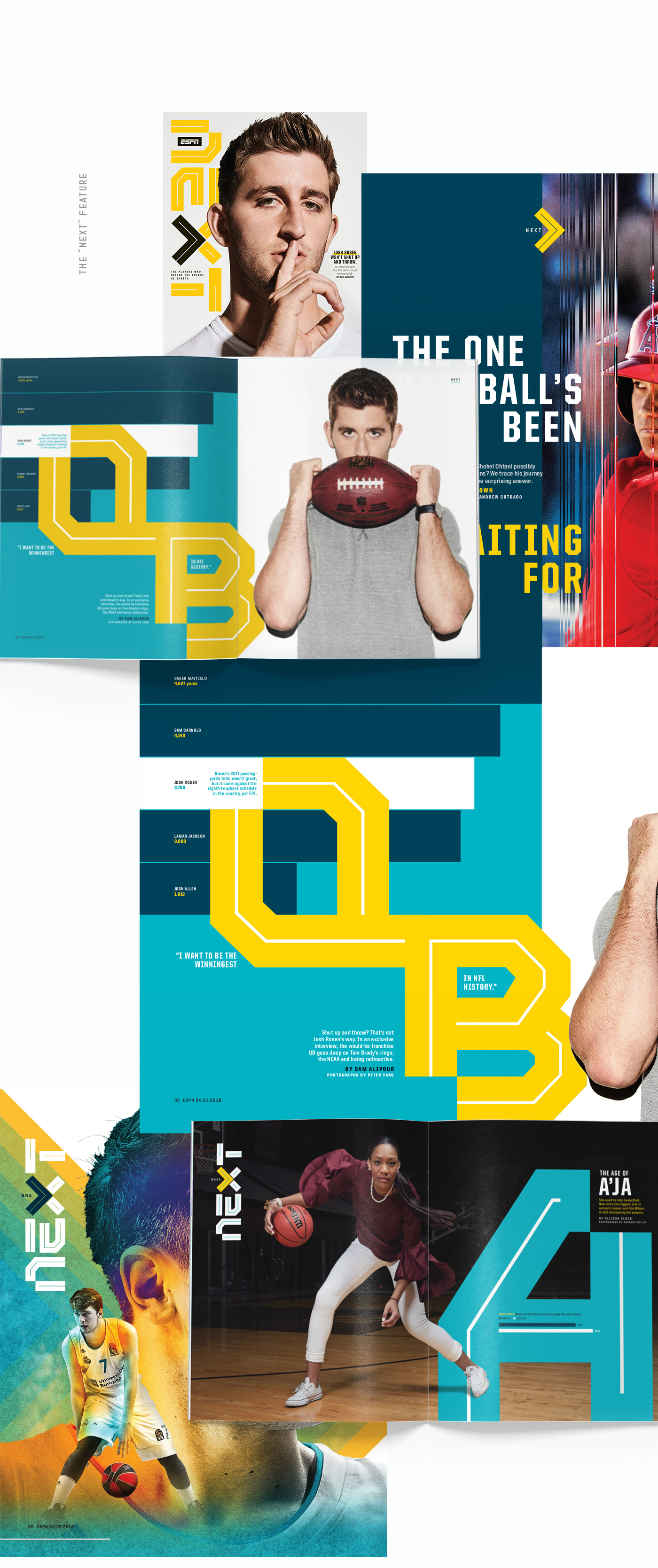 Typographic Illustration for ESPN NEXT