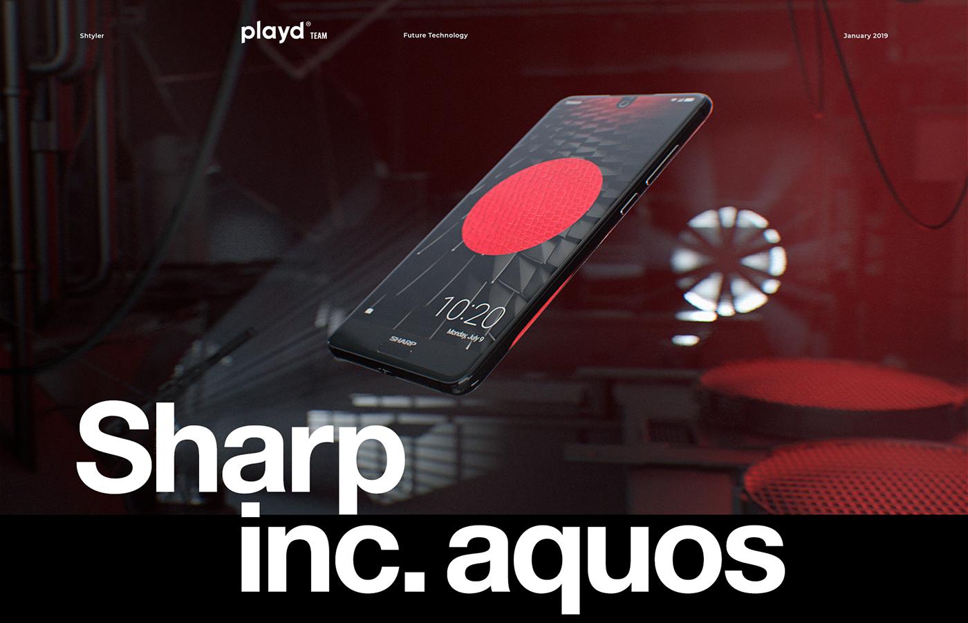 Sharp mobile japan smartphone galaxy Samsung iphone apple redshift Ae