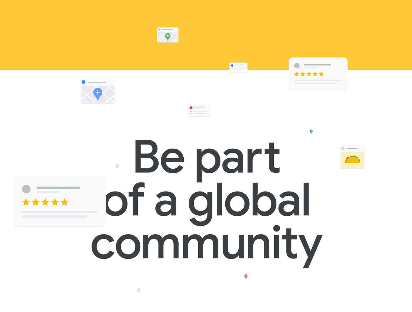 animation  community google interactive lottie  maps motion graphics  redesign reviews share